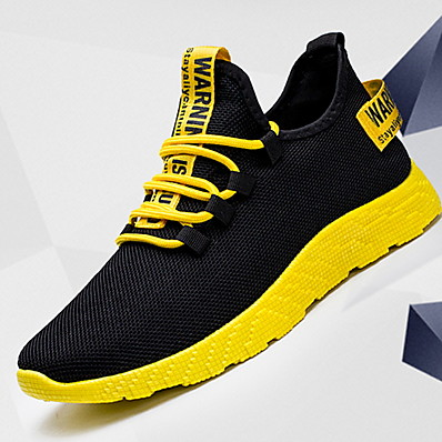 cheap Men's Shoes-Men's Comfort Shoes Canvas Winter Athletic Shoes Mid-Calf Boots White / Yellow / Red