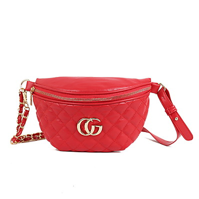 cheap ACCESSORIES-Women's Zipper PU Sling Shoulder Bag Solid Color Black / Champagne / Blushing Pink