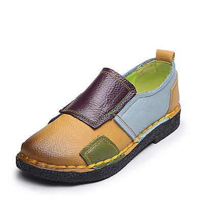 cheap Flats-Women's Flats Flat Heel Round Toe PU Fall & Winter Purple / Yellow
