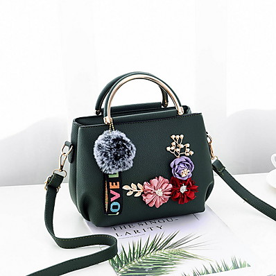 cheap Bags-Women's Zipper PU Crossbody Bag Black / Wine / Blushing Pink
