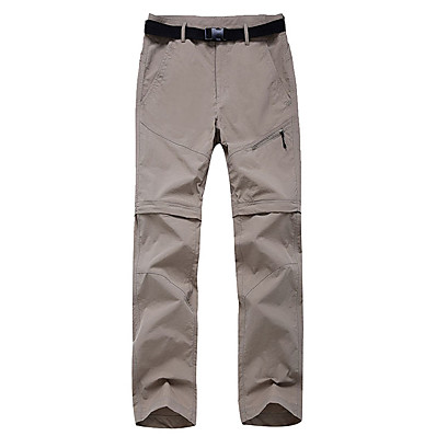 cheap Camping, Hiking & Backpacking-Women's Hiking Pants Trousers Convertible Pants / Zip Off Pants Outdoor Portable Breathable Quick Dry Soft Nylon Pants / Trousers Bottoms Army Green Fuchsia Khaki Sky Blue Camping / Hiking Fishing