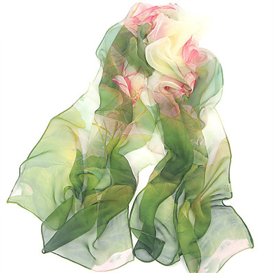 cheap ACCESSORIES1-Women's Active / Basic / Cute Rectangle Scarf - Floral