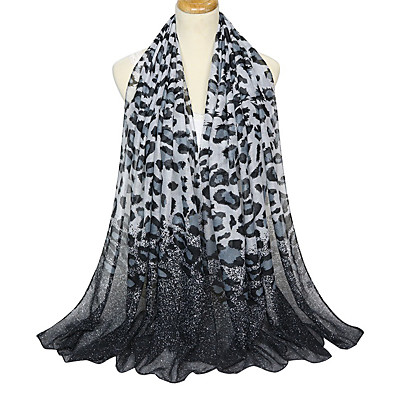 cheap ACCESSORIES1-Women's Party / Basic Rectangle Scarf - Leopard / Color Block