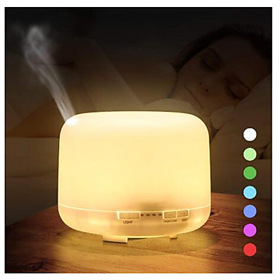 cheap Electrical & Tools-500ml Ultrasonic Air Humidifier Aroma Essential Oil Diffuser Aromatherapy Hmidificador 7 Color Change LED Night Light For Home