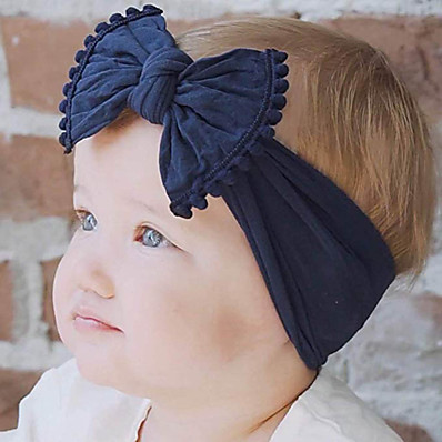 cheap Kids' Accessories-Toddler / Infant Boys' / Girls' Vintage / Active / Sweet Black / White / Blue Patchwork / Solid Colored / Tribal Bow / Mixed Color / Patchwork Nylon Hair Accessories Black / Wine / White One-Size