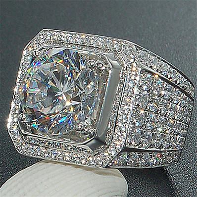 preiswerte Schmuck für Herren-Ring Synthetischer Saphir Klassisch Silber Aleación Mini Stilvoll Modisch 1 Stück / Packung 6 7 8 9 1 / Herren
