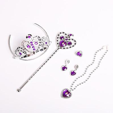 cheap Kids' Accessories-5 sets Kids Girls' Sweet Heart Heart Hair Accessories Purple One-Size / Headbands