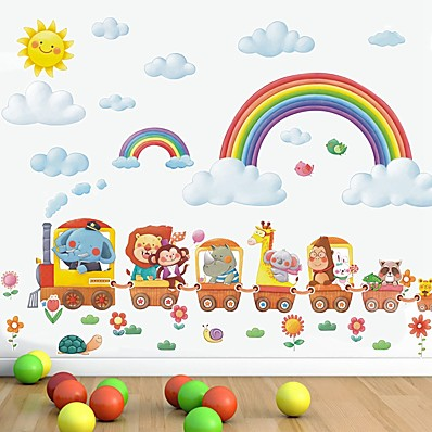 cheap Wall Stickers-Rainbow Decorative Wall Stickers - Plane Wall Stickers Nursery / Kids Room 97*32cm