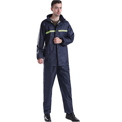cheap Sun protection jacket-Protective Clothing Anti Dust And Droplet Men's Fall & Winter Suit, Solid Colored Stand Long Sleeve Polyester Navy Blue
