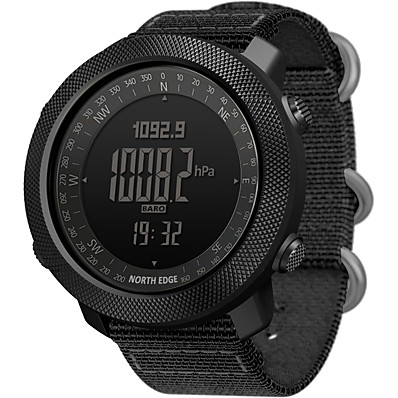 cheap Men's Watches-NORTH EDGE Men's Military Watch Smartwatch Analog - Digital Digital Modern Style Sporty Casual Water Resistant / Waterproof Altimeter Thermometer / One Year / Stainless Steel / Nylon / Japanese