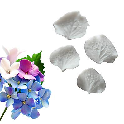 abordables Cuisine & Ustensiles-simulation d'hortensia orchidée moulage recto-verso fondant gâteau moule en silicone outil de cuisson