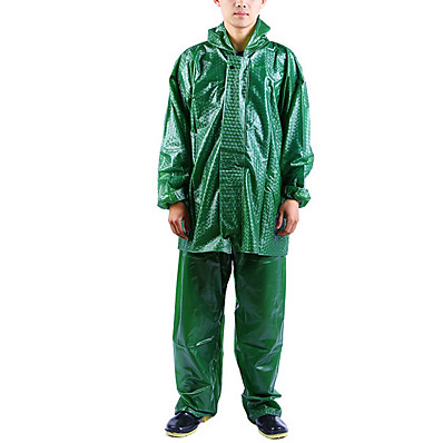 cheap Sun protection jacket-Protective Clothing Anti Dust And Droplet Men's Suit, Solid Colored Turndown Long Sleeve Polyester Army Green