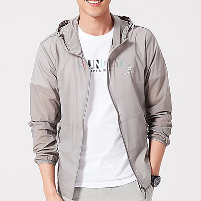 cheap Sun protection jacket-Protective Clothing Anti Dust And Droplet Men's Suit, Solid Colored Hooded Long Sleeve Polyester White / Army Green / Blue