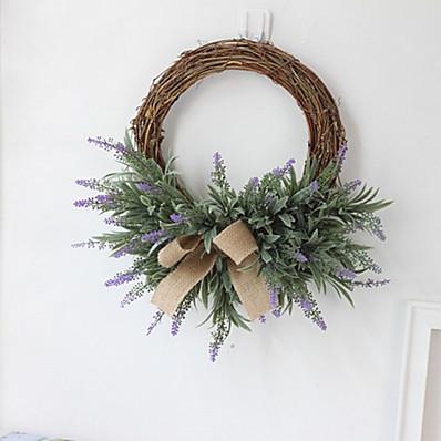 abordables Déco Intérieure-1 pièce artificielle lavande fleurs guirlande fleur artificielle guirlande mariage européen imitation fleur décor