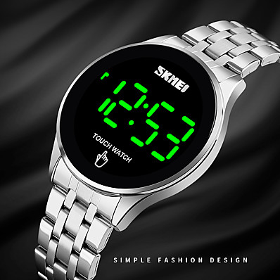 cheap Men's Watches-SKMEI Men's Digital Watch Digital Quartz Modern Style Stylish Minimalist Water Resistant / Waterproof Calendar / date / day LED Light / One Year / Stainless Steel
