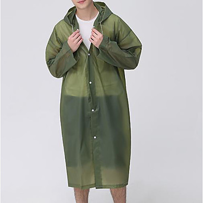 cheap Sun protection jacket-Protective Clothing Anti Dust And Droplet Men's Basic Long Cloak / Capes, Solid Colored Hooded Long Sleeve Polyester Black / Army Green / Blue
