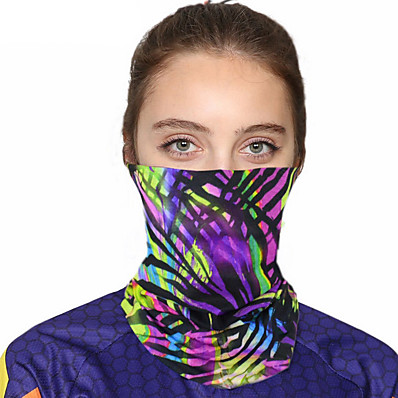 cheap Scarves & Bandanas-Women's Bandana Balaclava Neck Gaiter Neck Tube UV Resistant Quick Dry Lightweight Materials Cycling Polyester for Men's Women's Adults / Pollution Protection / Floral Botanical Sunscreen / High Breat