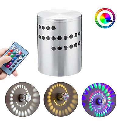 저렴한 실내 조명-밝기조절가능 컬러 그라데이션 우아한 노르딕 스타일 LED 벽 라이트 금속 벽 빛 90-264V 3 W