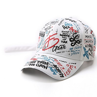 cheap Kids' Accessories-Infant Unisex Geometric Hats & Caps White / Black S
