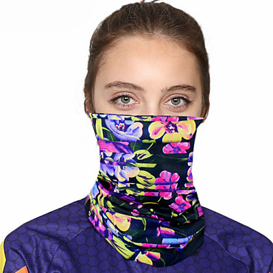 cheap Best Seller-Women's Bandana Balaclava Neck Gaiter Neck Tube UV Resistant Quick Dry Lightweight Materials Cycling Polyester for Men's Women's Adults / Pollution Protection / Floral Botanical Sunscreen / High Breat