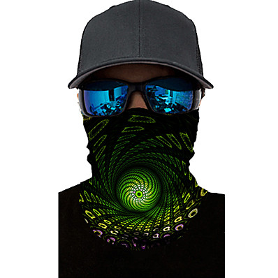 cheap Accessories-Neck Gaiter Pollution Protection Quick Dry Ultraviolet Resistant Rainbow  Balaclavas Bandana for Adults' Road Cycling Hiking Cycling