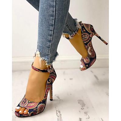 cheap Pumps & Heels-Women's Heels Stiletto Heel Round Toe PU Spring & Summer Dark Blue