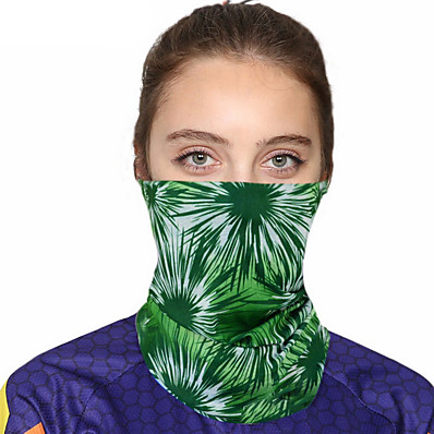 cheap Accessories-Women's Bandana Balaclava Neck Gaiter Neck Tube UV Resistant Quick Dry Lightweight Materials Cycling Polyester for Men's Women's Adults / Pollution Protection / Floral Botanical Sunscreen / High Breat
