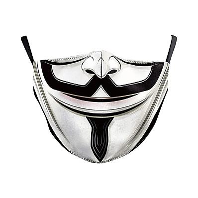 abordables Bandana homme-Masque Homme Femme Polyester Taille unique Arc-en-ciel 1 pc / paquet Adultes Quotidien Basique Toutes les Saisons