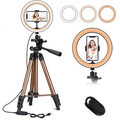 cheap Indoor Lighting-7.87inch(20cm) Selfie Ring Light Night Light Tiktok Light Youtube Video Color-Changing / Dimmable / Adjustable Selfie Light Remote Control 2pcs