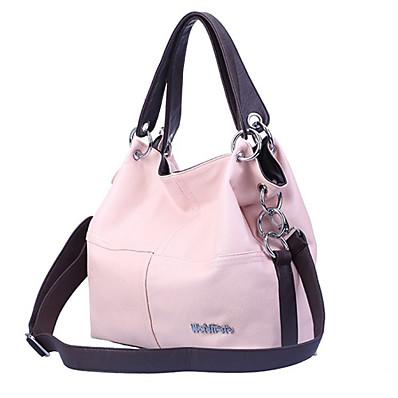 preiswerte Taschen-Damen Taschen Tragetasche PU-Leder Reißverschluss Alltag Volltonfarbe Ledertaschen Handtaschen Schwarz Rosa Khaki Grün