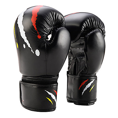 cheap Boxing & Martial Arts-Pro Boxing Gloves Boxing Gloves For Boxing Martial Arts Mittens Protective PU(Polyurethane) White Black Red