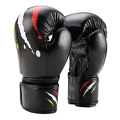 abordables Boxe et arts martiaux-Gants de Boxe Pro Gants de Boxe Pour Boxe Arts martiaux mitaines Protectif PU Blanche Noir Rouge