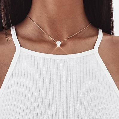 cheap Jewelry-Women's Choker Necklace Chrome Gold Silver 45 cm Necklace Jewelry 1pc For Daily