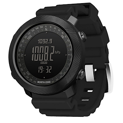 cheap Men's Watches-NORTH EDGE Men's Military Watch Digital Digital Modern Style Sporty Casual Water Resistant / Waterproof Altimeter Thermometer / One Year / Silicone / Japanese