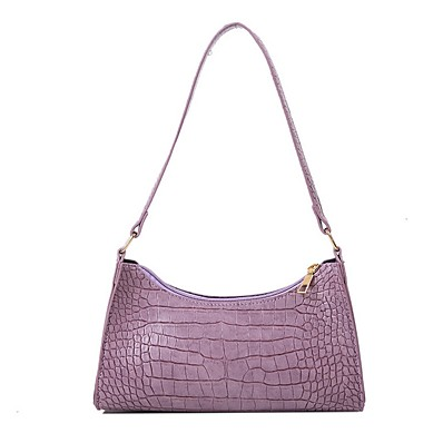 cheap Bags-Women's Bags PU Leather Crossbody Bag Zipper Chain Solid Color for Daily White / Black / Purple