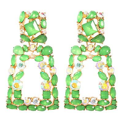 cheap Jewelry-Women's Earrings Geometrical Precious Earrings Jewelry Light Yellow / White / Red For Daily 2pcs
