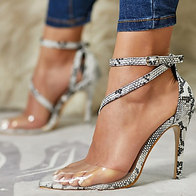 cheap Pumps & Heels-Women's Heels Summer Stiletto Heel Pointed Toe Daily PU Gray