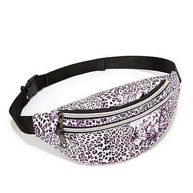cheap Bags-Women's Bags PU Leather Fanny Pack Zipper Floral Print for Daily Black / Blue / Purple / Red