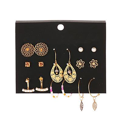cheap ACCESSORIES-Women's Drop Earrings Hoop Earrings Earrings Vintage Style Mini Earrings Jewelry Gold For Gift Daily Street Club Bar