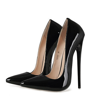 cheap Pumps & Heels-Women's Heels Pumps Onlymake Stiletto Heel Pointed Toe Sexy Wedding Party & Evening Club Patent Leather Solid Colored Black Red