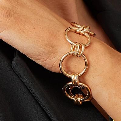abordables Bijoux-Bracelet Femme Géométrique Précieux Mode Bracelet Bijoux Dorée pour Plein Air