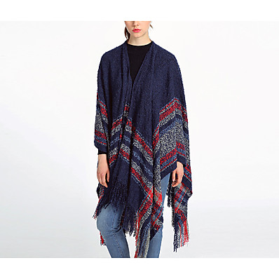 cheap ACCESSORIES-Women's Active Rectangle Scarf / Square Scarf - Print / Color Block Multifunctional