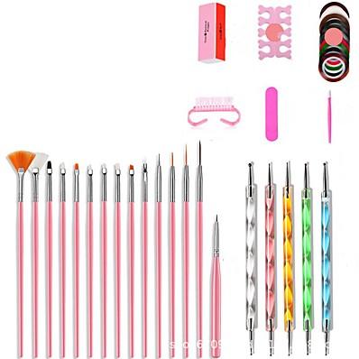 cheap Nail Care & Polish-Nail Designs 2020 26pcs Nail Basic Nail Art Tools for Beginner Nail Brushes  Dotting Tools Nail Art Acrylic Pen  Nail Kits & Sets for Finger Nail