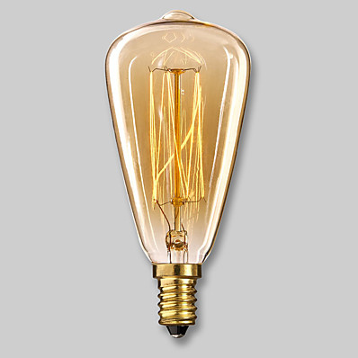 cheap Light Bulbs-1pc Edsion Bulb 40W E14 ST48 Warm White 2300k Incandescent Vintage Edison Light Bulb 220-240V