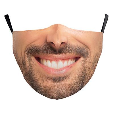 abordables Bandana homme-Face cover Homme Polyester Taille unique Beige 1 pc / paquet Adultes Anti UV Quotidien basique Toutes les Saisons