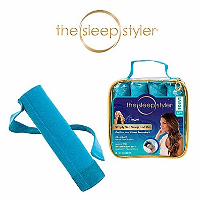 "cheap Health & Personal  Care-sleep styler: the heat-free nighttime hair curlers for long, thick or curly hair, large (6"" rollers), 8 count, as seen on shark tank"
