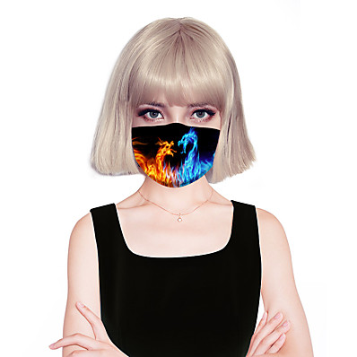cheap Scarves & Bandanas-Women's Face cover Fashion Spandex Flame HomeMask / Layered / Fall / Winter / Spring / Summer