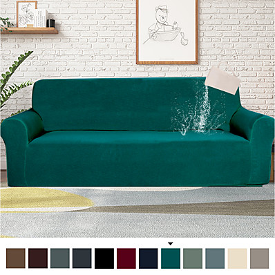 cheap Home Textiles-1 Piece Water-Repellent Sofa Cover Stretch Couch Covers Sofa Slipcover Protector for Living Room,Feature Small Checked,Dog Cat Pet Proof