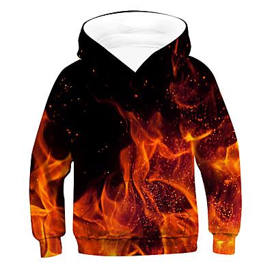 cheap Boys' Clothing-Kids Boys' Hoodie & Sweatshirt Long Sleeve 3D Red Children Tops Active Basic Children's Day