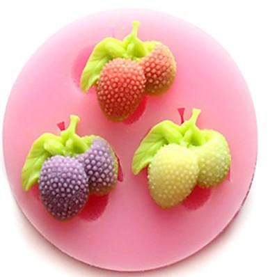 abordables Cuisine & Ustensiles-1 pièces moule à gâteau bricolage moule à fraise pour chocolat ou gâteau de haute qualité 6 cm * 1.2 cm